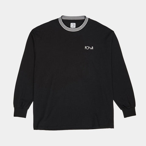 POLAR STRIPED RIB LONGSLEEVE BLACK
