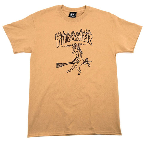 THRASHER WITCH T-SHIRT TAN