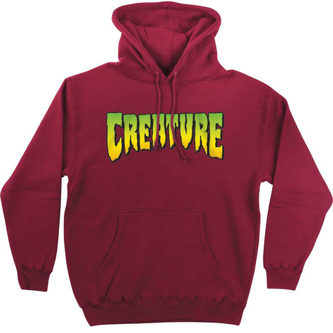 CREATURE LOGO HOODED SWEATER CURRANT