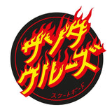 SANTA CRUZ FLAMING JAPANESE DOT STICKER 4.5 INCH