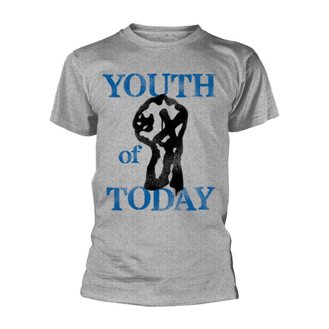 YOUTH OF TODAY STENCIL T-SHIRT HEATHER GREY