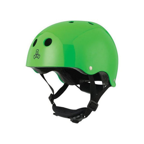 TRIPLE EIGHT LIL 8 DUAL CERTIFIED HELMET W/EPS LINER  NEON GREEN