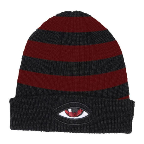TOY MACHINE SECT EYE STRIPE DOCK BEANIE BLACK