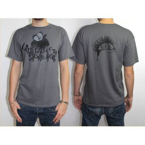 QUEENS OF THE STONE AGE COVER SPRAY T-SHIRT GREY - Skateboards Amsterdam - 1