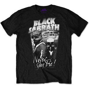 BLACK SABBATH NEVER SAY DIE T-SHIRT GREY - Skateboards Amsterdam