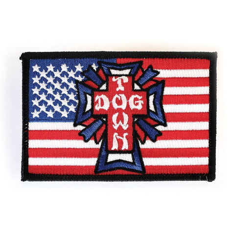 DOGTOWN EMBROIDERED FLAG PATCH