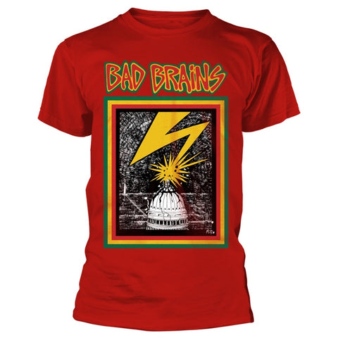 BAD BRAINS-1ST ALBUM COVER T-SHIRT RED