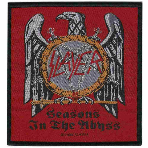 SLAYER SEW ON PATCH SEASONS IN THE ABYSS - Skateboards Amsterdam