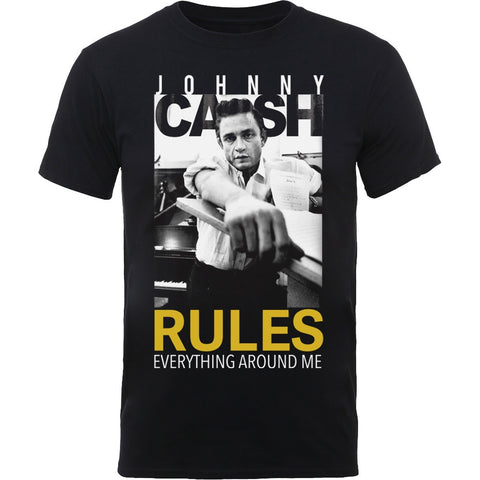 JOHNNY CASH RULES EVERYTHING T-SHIRT BLACK