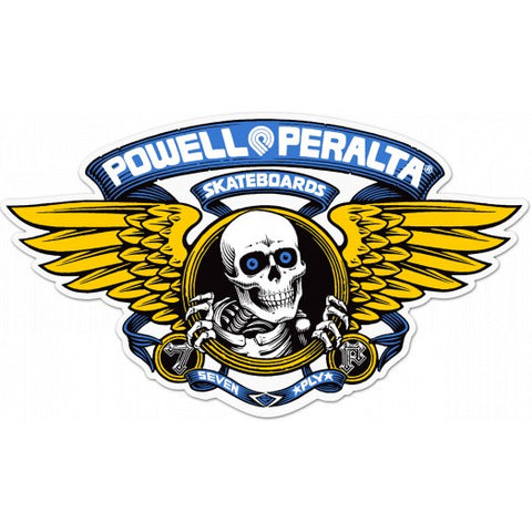 POWELL PERALTA WINGED RIPPER BLUE STICKER 5 INCH