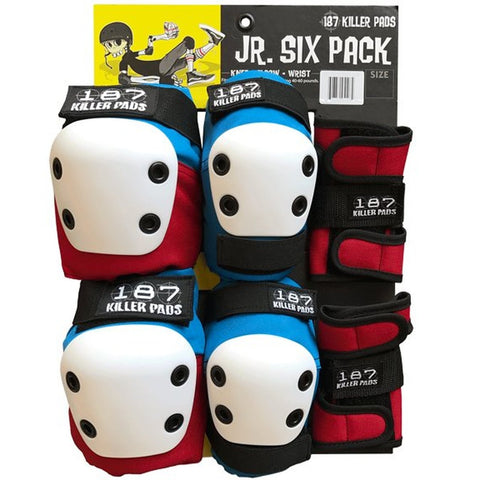 187 JUNIOR SIX PACK KILLER PADS RED/WHITE/BLUE