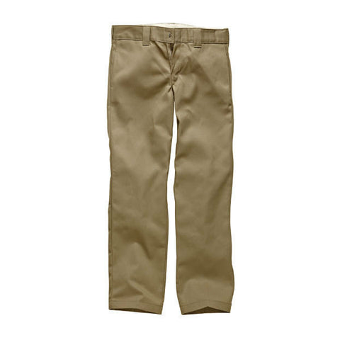 DICKIES WP873 SLIM STRAIGHT WORK PANT KHAKI - Skateboards Amsterdam