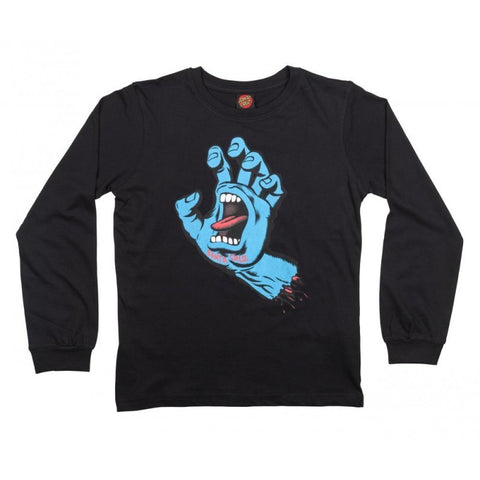 SANTA CRUZ SCREAMING HAND LONG SLEEVE BLACK - Skateboards Amsterdam