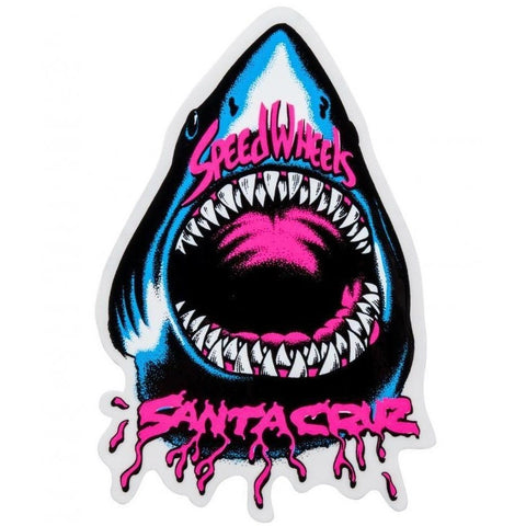 SANTA CRUZ SPEED WHEELS SHARK STICKER 4.8 INCH