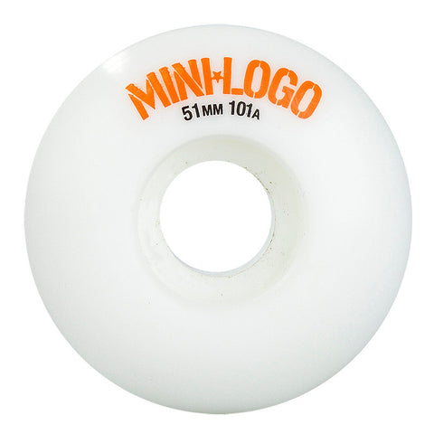 MINI LOGO C-CUT WHEELS 51MM WHITE - Skateboards Amsterdam