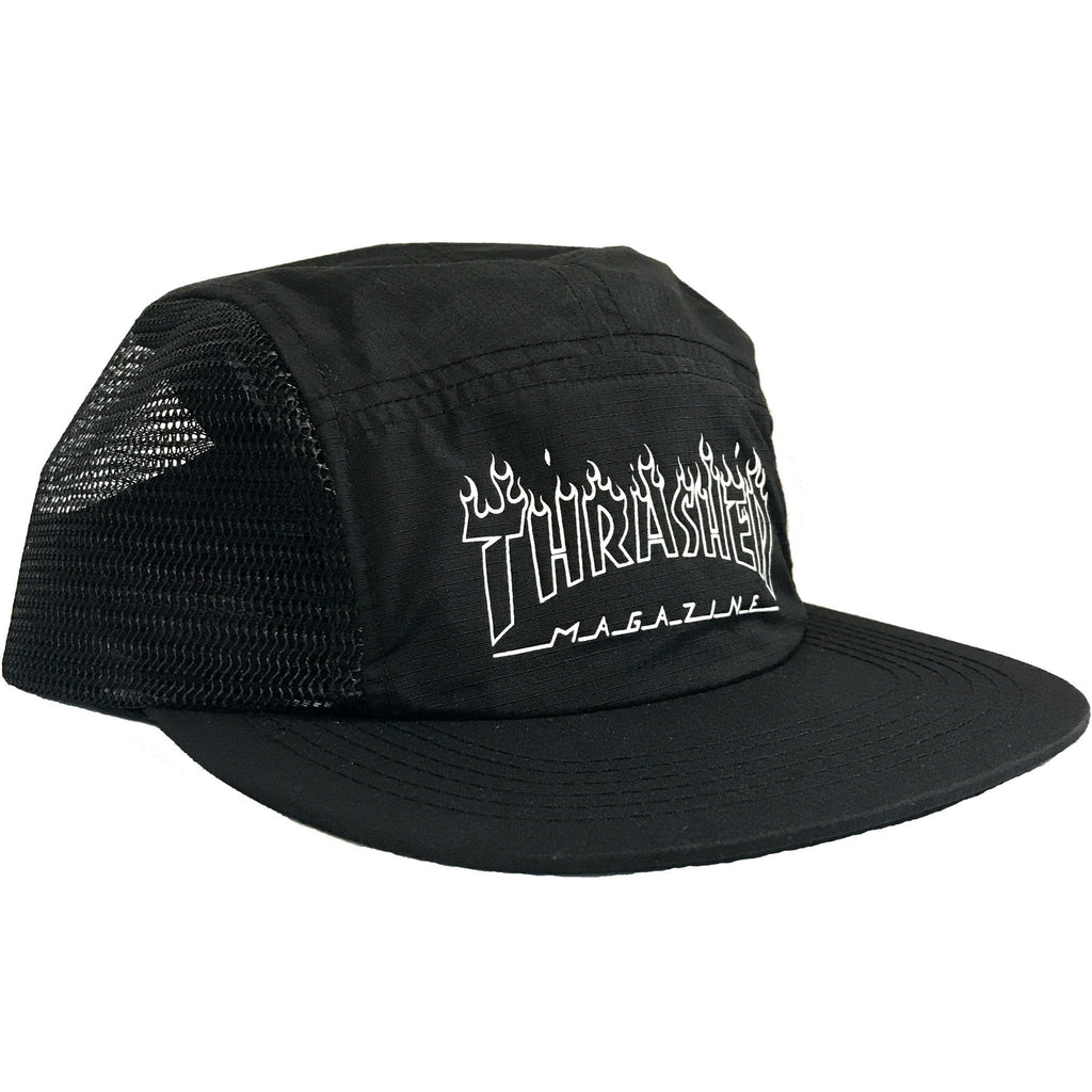 e04fda42d5e THRASHER FLAME OUTLINE 5 PANEL BLACK – Skateboards Amsterdam
