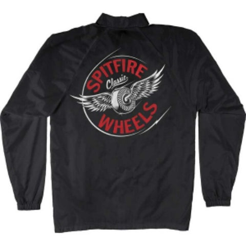 SPITFIRE FLYING WATER RESISTANT CLASSIC COACH JACKET BLACK/WHITE/RED