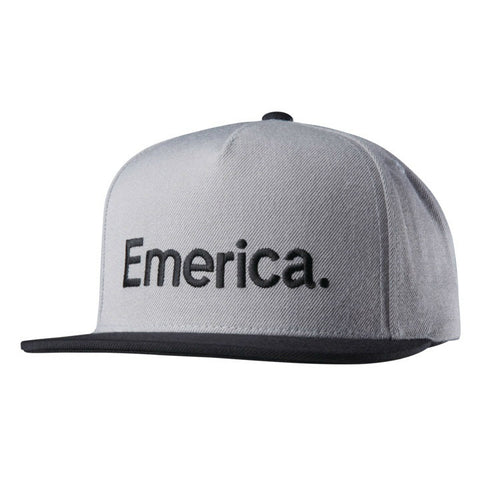 EMERICA PURE SNAPBACK GREY/BLACK