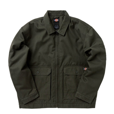 DICKIES TWILL UTILITY EISENHOWER JACKET GREEN