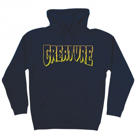 CREATURE OUTLINE HOODED SWEATER  NAVY