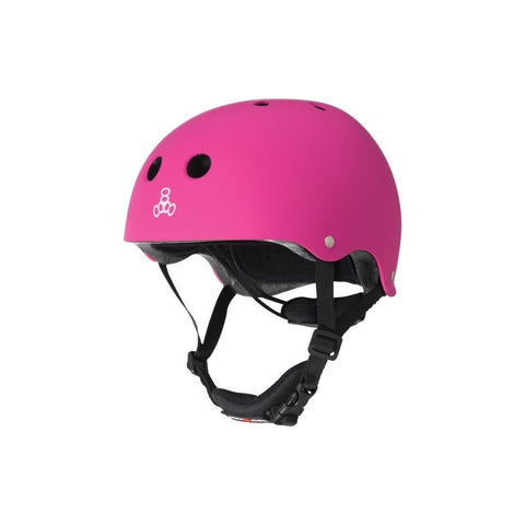 TRIPLE EIGHT LIL 8 DUAL CERTIFIED HELMET W/EPS LINER NEON PINK