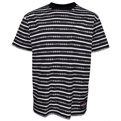 INDEPENDENT ANTE POCKET T-SHIRT VERTIGO STRIPE