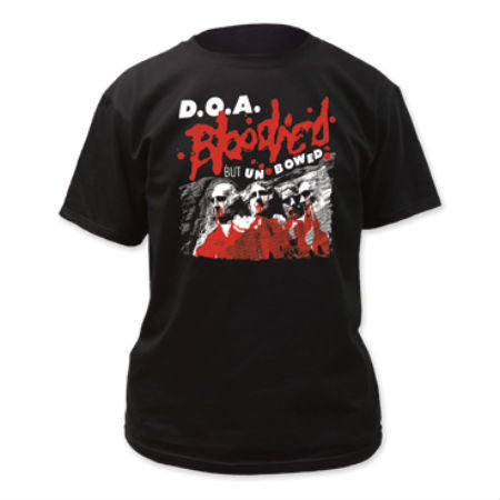 D.O.A.-BLOODIED BUT UNBOWED T-SHIRT BLACK - Skateboards Amsterdam - 1