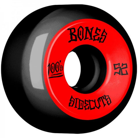 BONES 100S #2 SIDECUTS V5 BLACK 52MM
