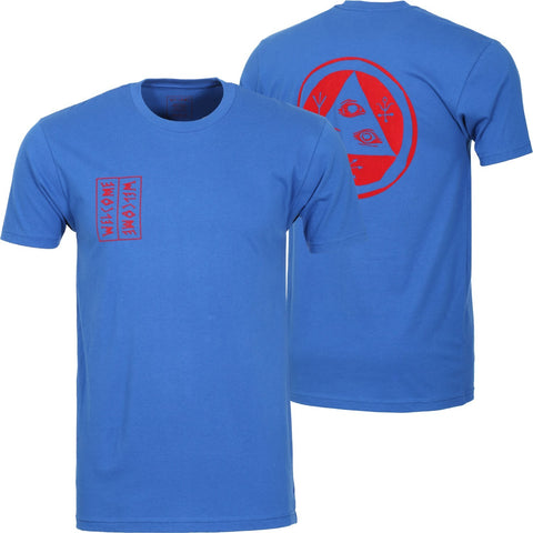 WELCOME TALISMAN T-SHIRT ROYAL/RED
