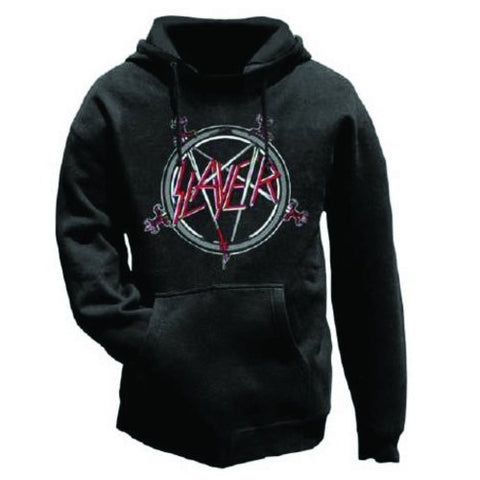 SLAYER PENTAGRAM HOODED SWEATER - Skateboards Amsterdam - 1