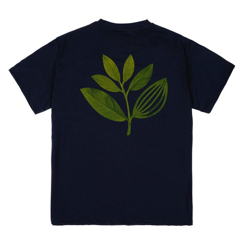 MAGENTA TRUE LEAF T-SHIRT NAVY