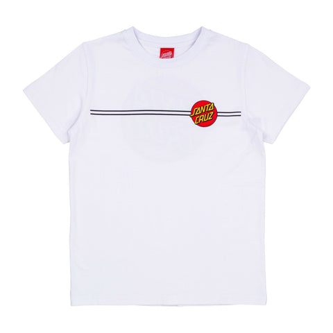 SANTA CRUZ OG CLASSIC DOT YOUTH T-SHIRT WHITE