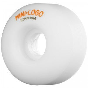 MINI LOGO C-CUT 53MM WHITE - Skateboards Amsterdam