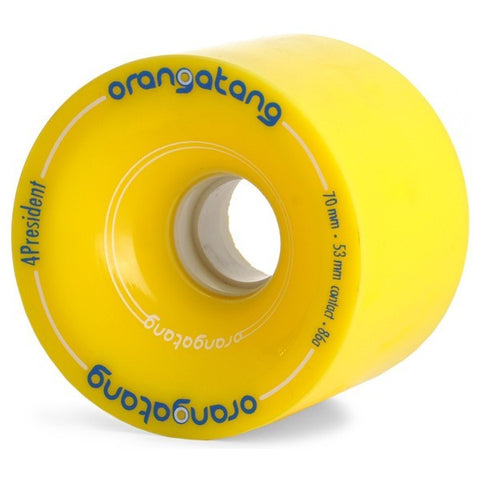 ORANGATANG 4PRESIDENT YELLOW 70 MM - Skateboards Amsterdam - 1