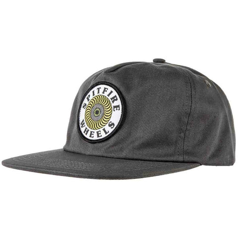 SPITFIRE OG SWIRL PATCH SNAPBACK BLACK/YELLOW