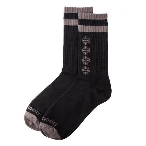 INDEPENDENT CHAIN CROSS SOCK BLACK