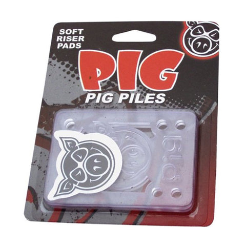 PIG PILES SOFT RISERS SHOCK PADS CLEAR