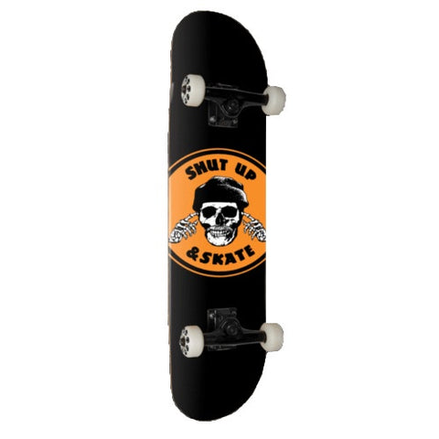 ZERO SHUT UP & SKATE COMPLETE BLACK/ORANGE 8.0