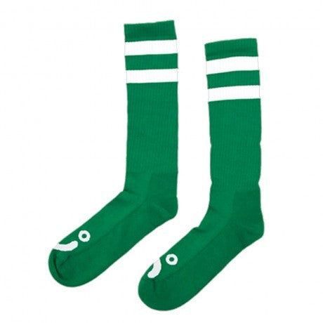 POLAR HAPPY SAD SOCKS GREEN/WHITE - Skateboards Amsterdam