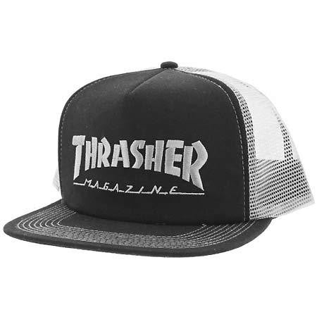 THRASHER SKATE MAG EMBROIDERED MESH CAP BLACK/GREY - Skateboards Amsterdam