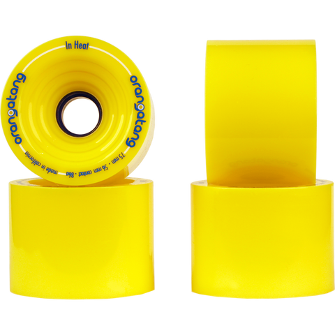 ORANGATANG IN HEAT 75MM YELLOW - Skateboards Amsterdam