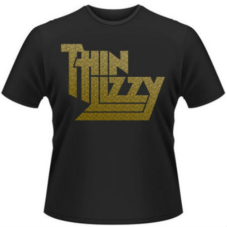 THIN LIZZY GOLD LOGO T-SHIRT BLACK - Skateboards Amsterdam - 1
