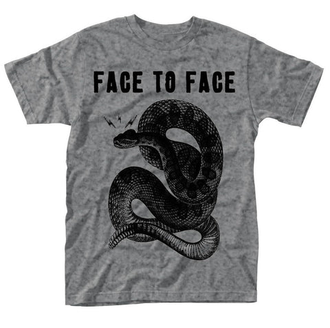 FACE TO FACE SNAKE T-SHIRT GREY - Skateboards Amsterdam