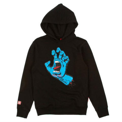 SANTA CRUZ SCREAMING HAND HOODED SWEATER BLACK - Skateboards Amsterdam
