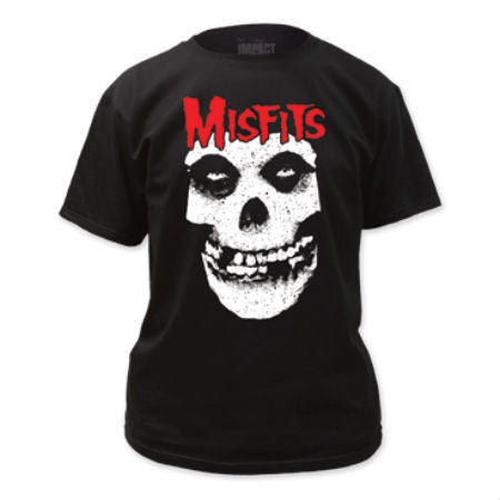 MISFITS RED LOGO SKULL T-SHIRT BLACK - Skateboards Amsterdam