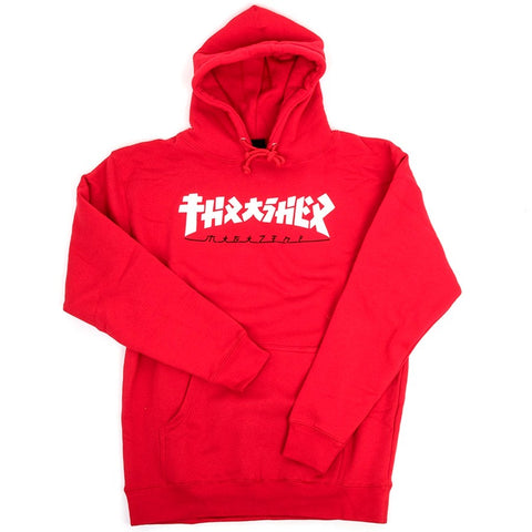 THRASHER GODZILLA HOODED SWEATER RED