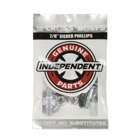INDEPENDENT CROSS BOLTS 7/8 PHILLIPS HEAD BLACK/SILVER