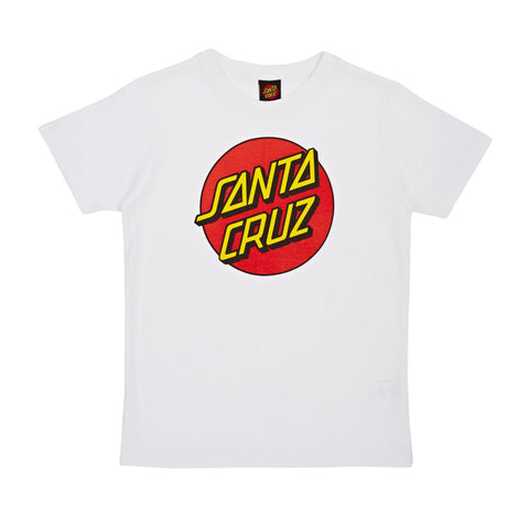 SANTA CRUZ CLASSIC DOT T-SHIRT WHITE - Skateboards Amsterdam