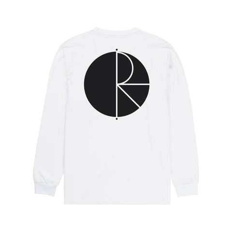 POLAR FILL LOGO LONGSLEEVE WHITE/BLACK