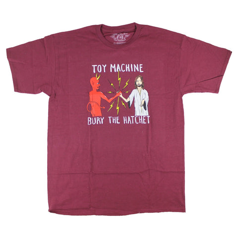 TOY MACHINE BURY THE HATCHET II T-SHIRT RED